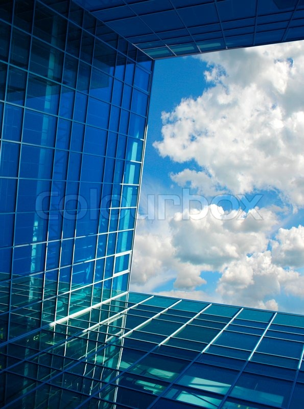 modern building perspective structure opening window to