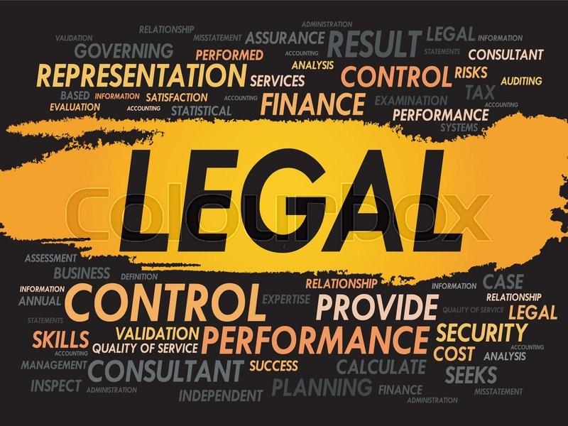 legal word cloud business concept stock vector colourbox