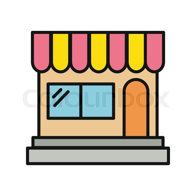 store icon shop icon flat design shop or market