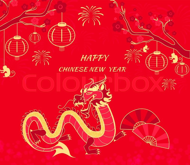 new year card with monkey happy chinese new year 2016 new year monkey chinese zodiac monkey year of monkey 2016 chinese new year greetings - Chinese New Year 2016 Zodiac