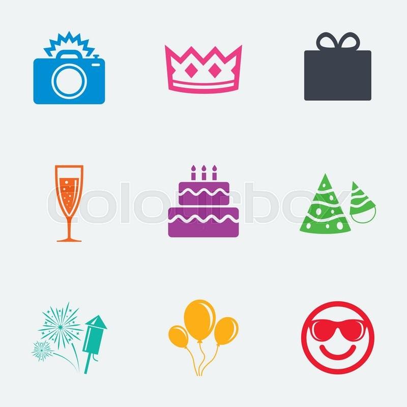 Birthday Text Symbol Cake