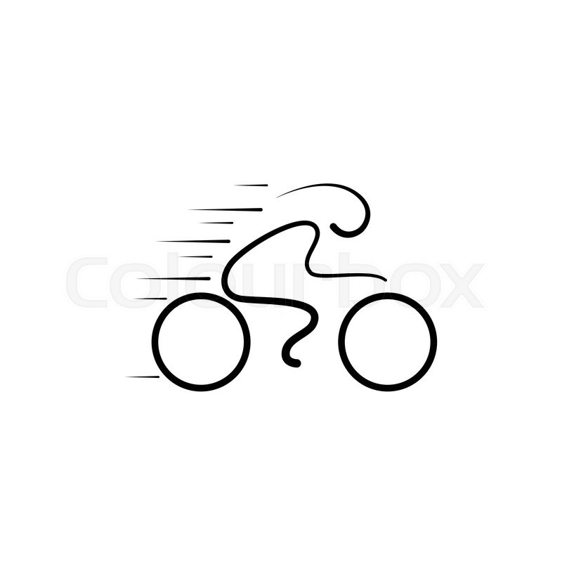 bicycle logo design vector template linear style lineart icon