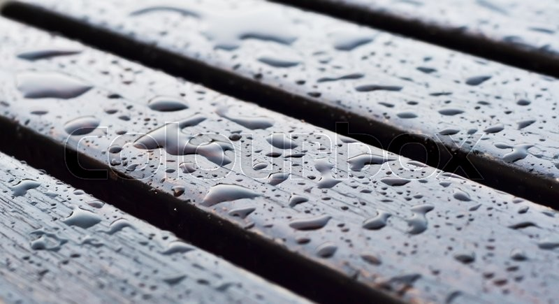 Wet wood floors with vintage color tone for texture and background, stock photo