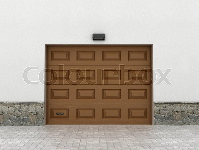 Garage doors. Garage concept, stock photo