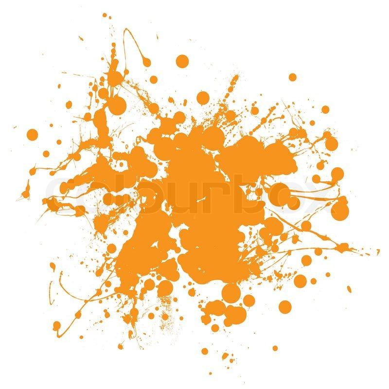 Orange Splat Design Abstract Orange Ink Splat