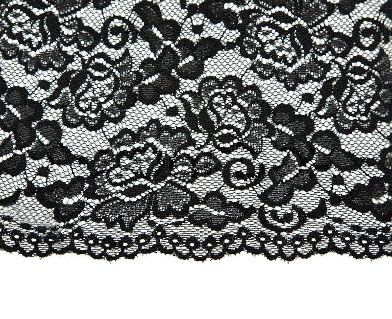 Schwarze Tapete Mit Wei?em Muster : Black Lace Pattern