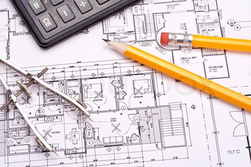 Teknik og arkitektur tegninger med blyant   stock foto   Colourbox : arkitektur tegning : Arkitektur