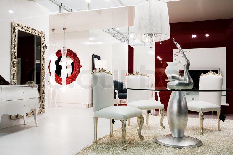 Beautiful And Modern Furniture In Furniture Store Stock Photo Colourbox