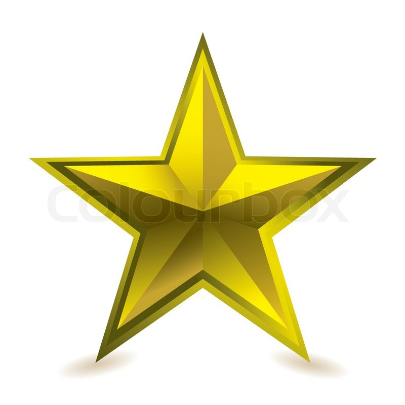 Gold Star Award Ideal Gift Icon For Golden Performance Stock