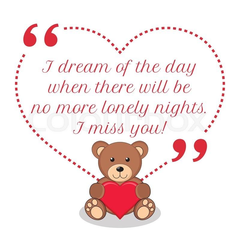 Inspirational Love Quote I Dream Of Stock Vector Colourbox