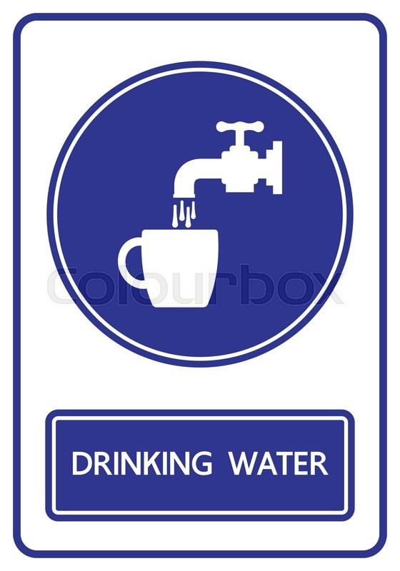 Drinking water sign and symbol vector illustration | Stock ...