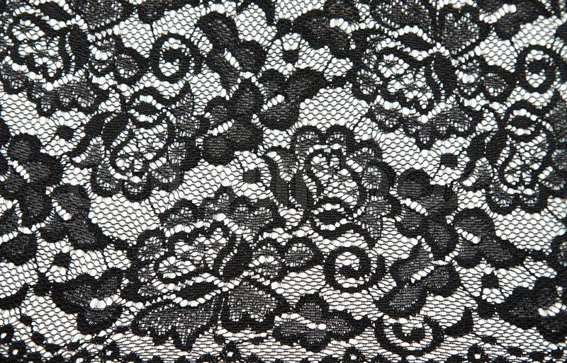 hintergrund aus schwarzer spitze mit muster mit form blume. Black Bedroom Furniture Sets. Home Design Ideas