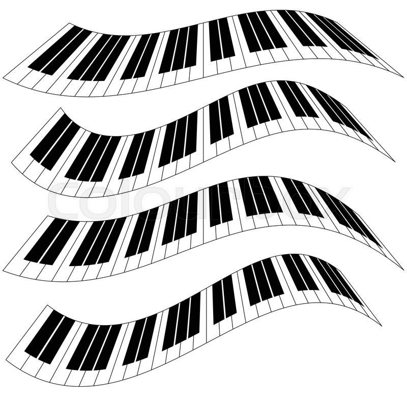 piano keys  piano keyboard isolated