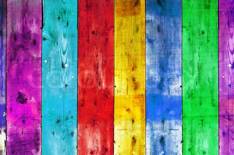 Bright colorful vintage wooden wall stock photo colourbox for Bright wallpaper for walls
