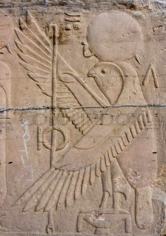 Old egypt hieroglyphs hieroglyphic carvings on the