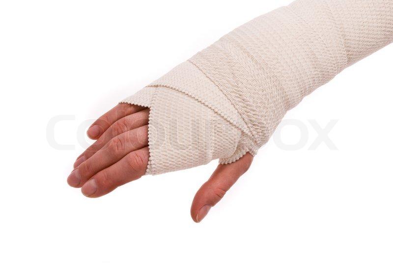Die Behandlung des Fingers des Daumens beim Nagelzwang
