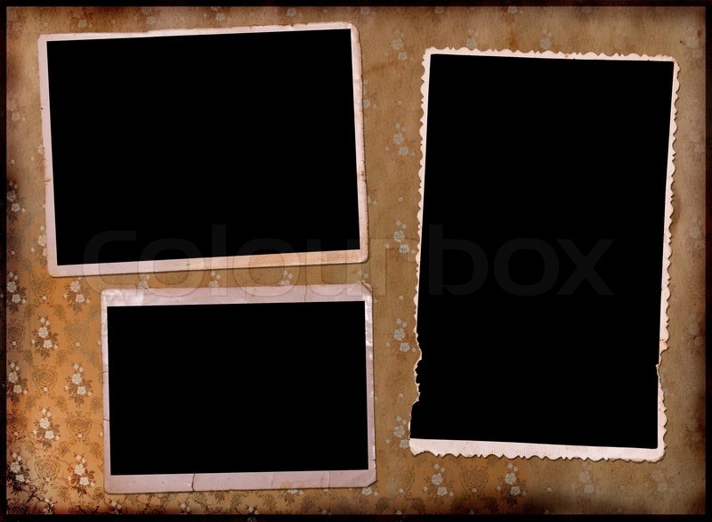 page of a vintage photo album stock photo colourbox. Black Bedroom Furniture Sets. Home Design Ideas