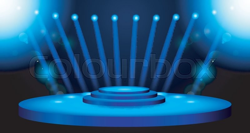 Vector illustration of stage lighting background with for Stage 47 designhotel
