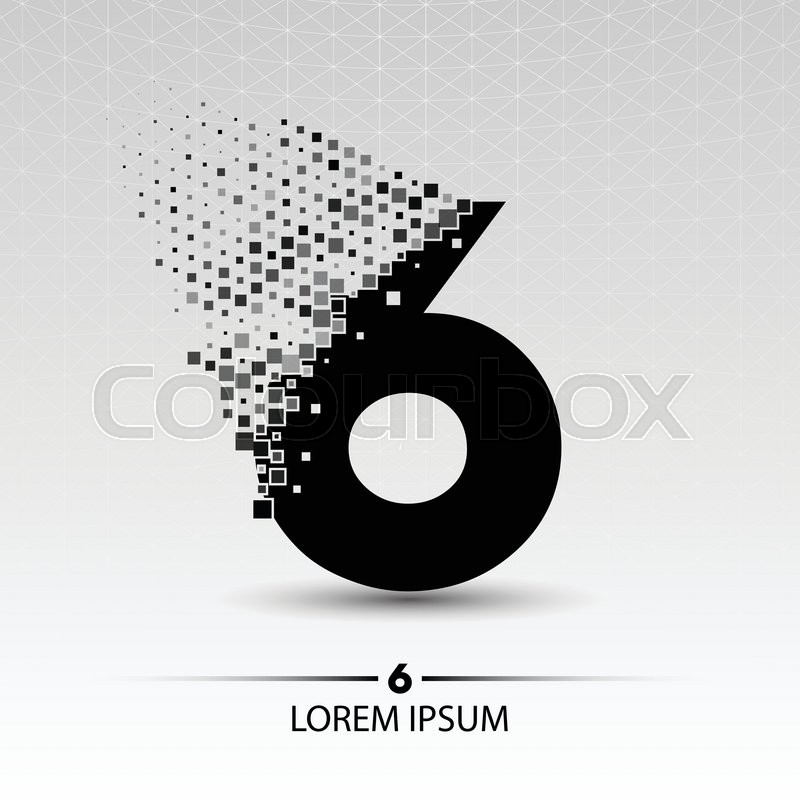 Number six logo vector design ... | Stock vector | Colourbox