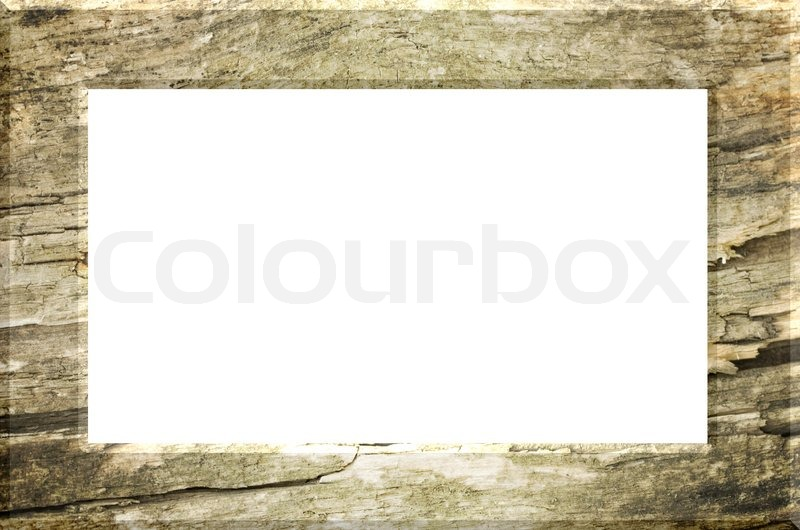 Illustrated wood frame texture of a piece of timber Stock Photo