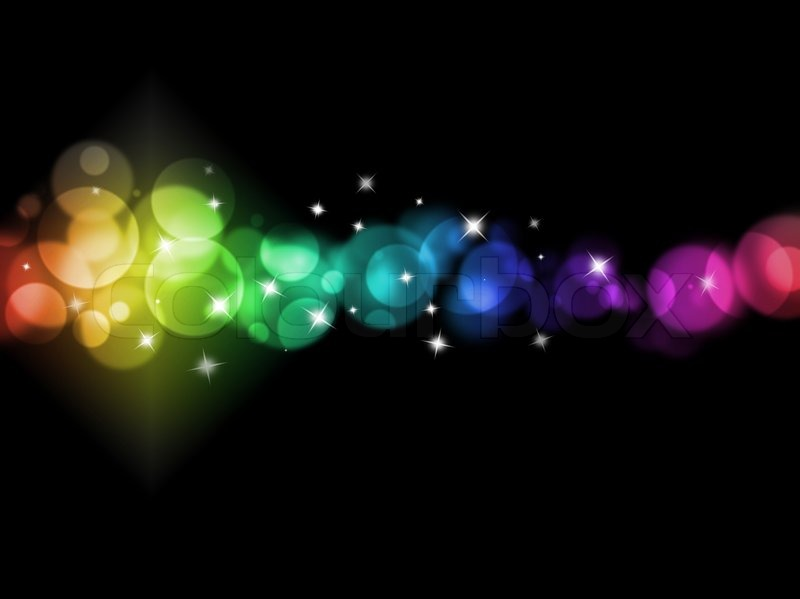 Blurred colored lights holiday illumination background ...