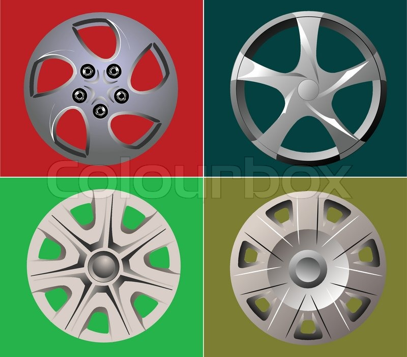 Decorative car wheel covers. Plate. Vector illustration vector  sc 1 st  Colourbox & Decorative car wheel covers. Plate. Vector illustration | Stock ...