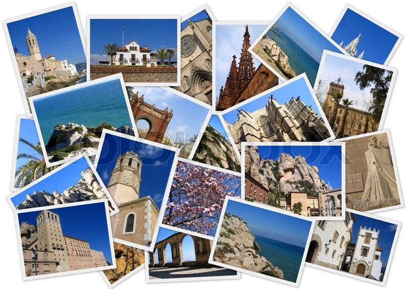 Traveling Around Spain In Collage With Stock Image Colourbox