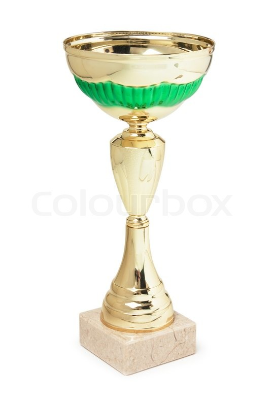 Stock image of 'Sports Cup isolated on a white background'
