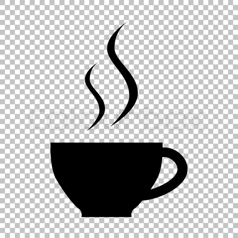 cup of coffee sign flat style icon on transparent Coffee Cup Clip Art Commercial Coffee Cup Clip Art Commercial