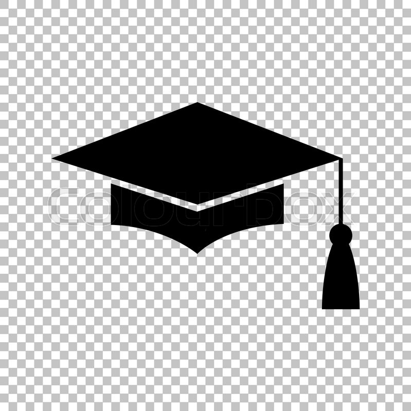 Mortar Board or Graduation Cap, Education symbol. Flat style icon vector illustration, vector