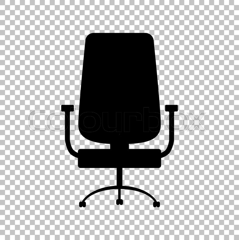 Office Chair Sign Flat Style Icon On Transparent