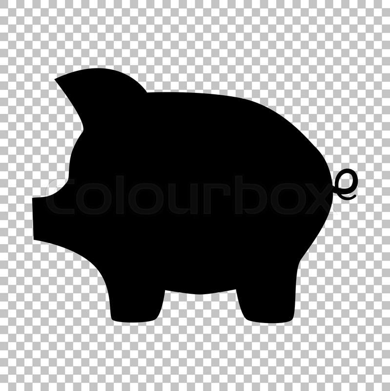 pig money bank sign flat style icon on transparent Animated Cash Register Cash Register Icon