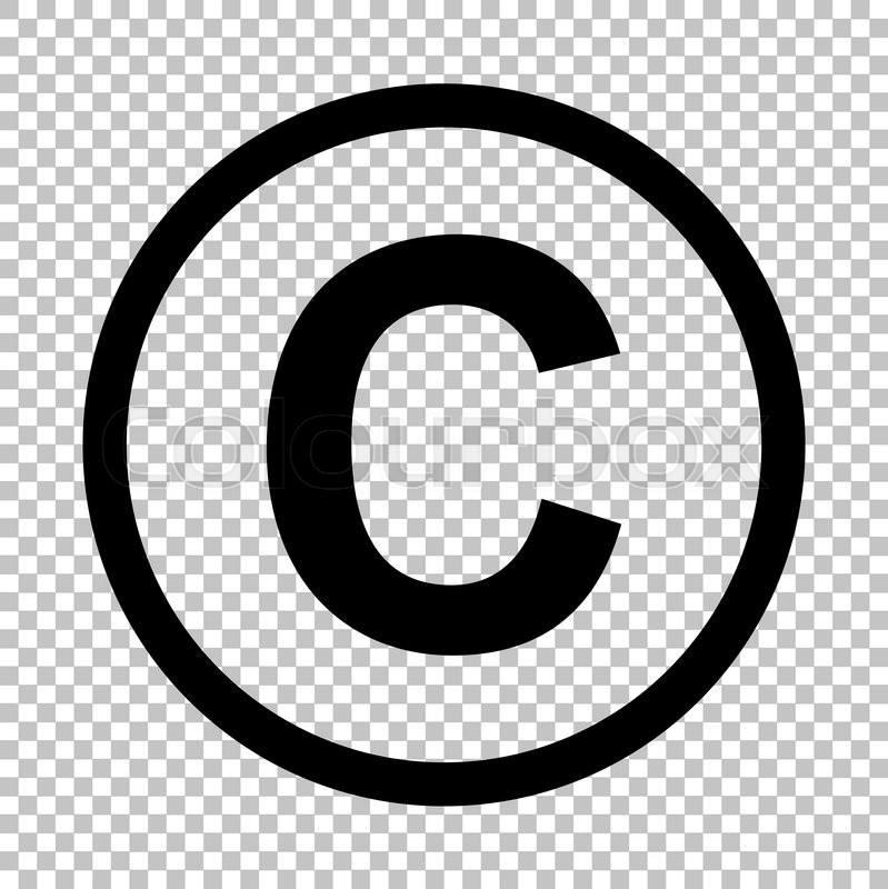 copyright sign flat style icon on stock vector colourbox Copyright Warning