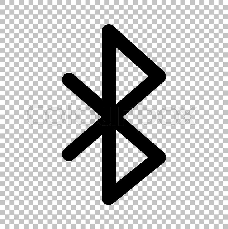Bluetooth Sign Flat Style Icon On Transparent Background Stock