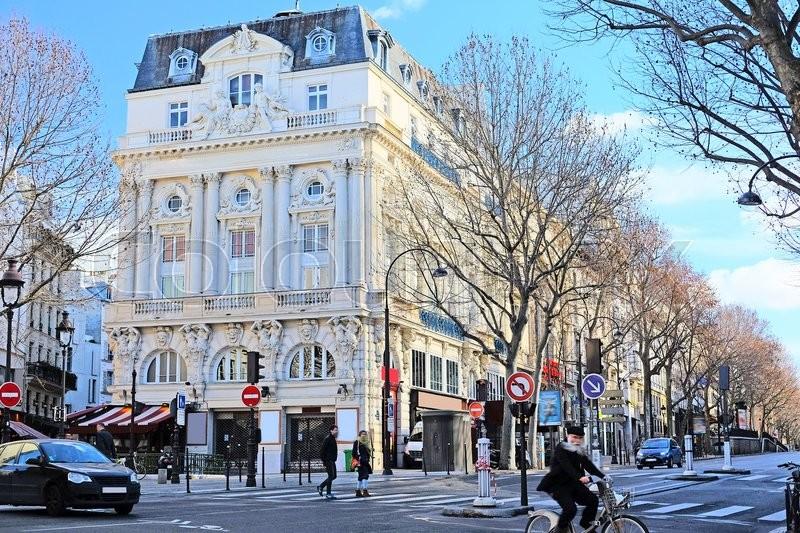 Paris, France, February 6, 2016: the image of Paris street, Paris, France, stock photo