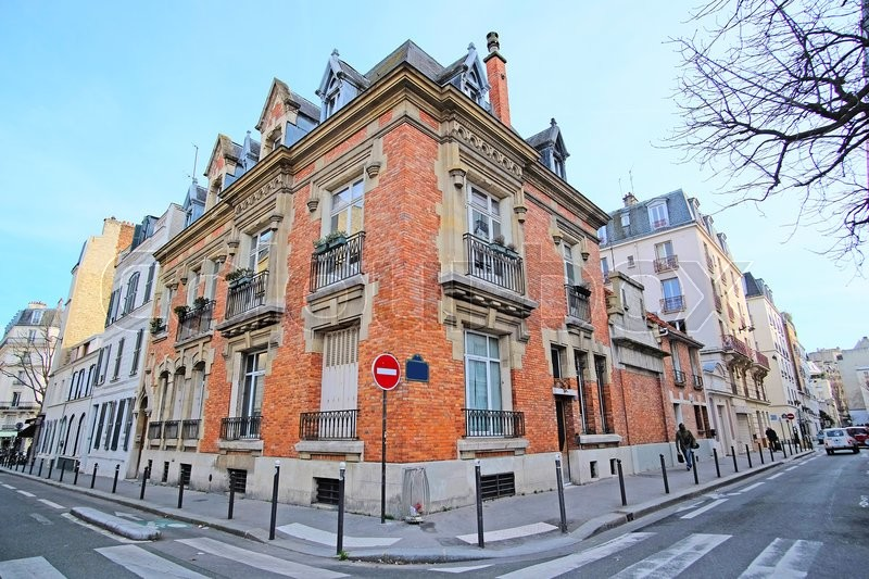 The image of Paris street, Paris, France, stock photo