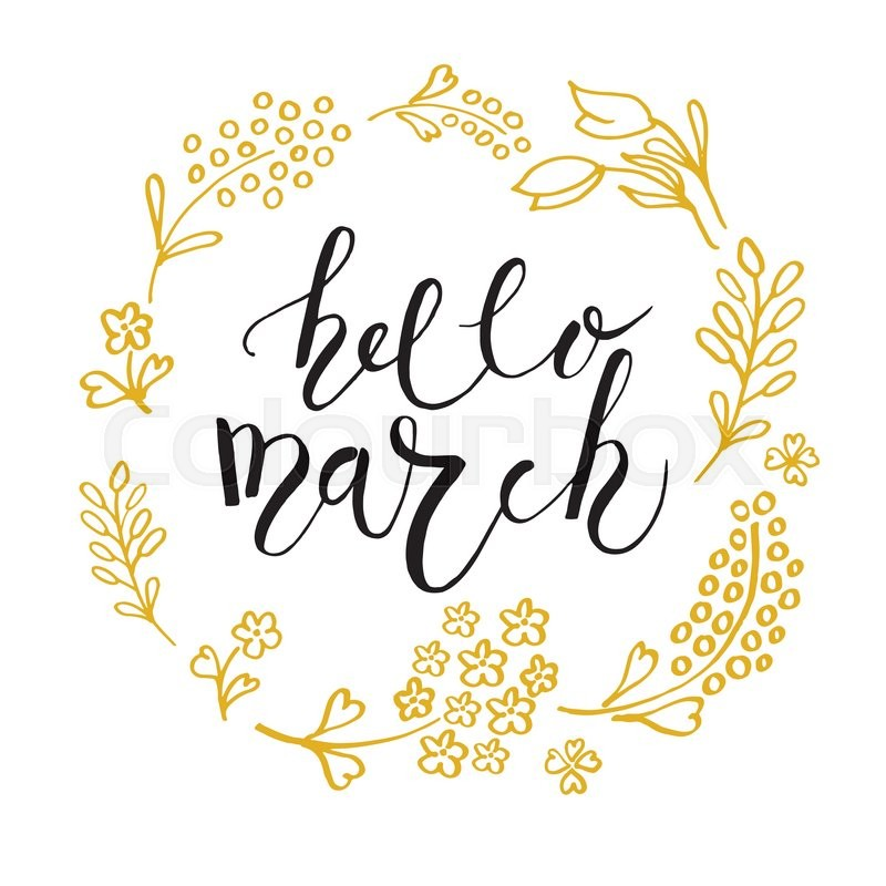 Hand sketched hello march text as logotype badge and icon spring hand sketched hello march text as logotype badge and icon spring postcard card invitation flyer banner template hello march lettering typography m4hsunfo
