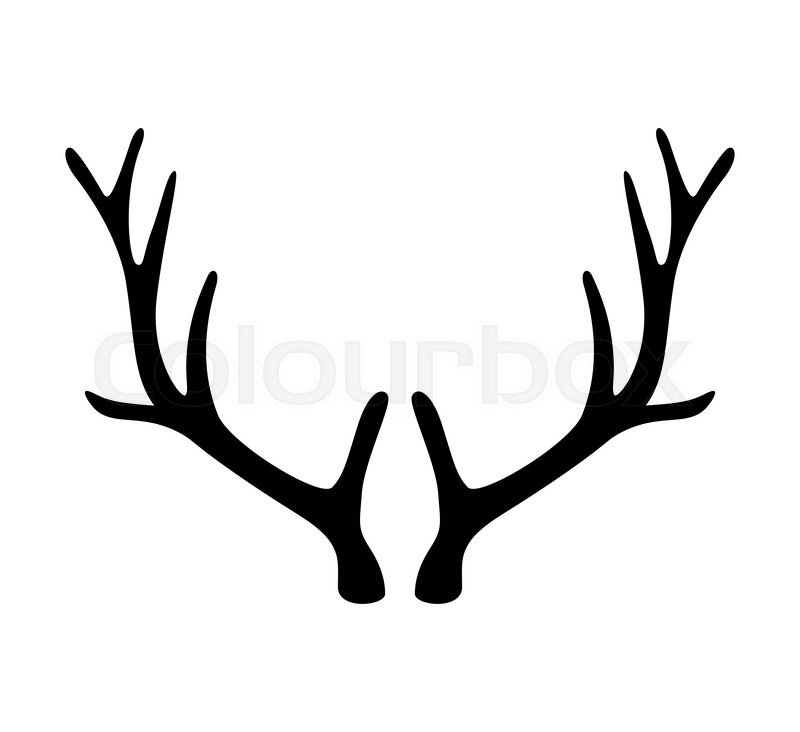 Deer antlers. Horns icon isolated on white background ...