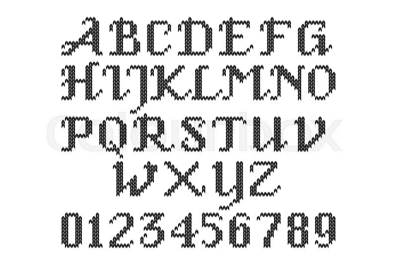 Numbers Lettering Latin