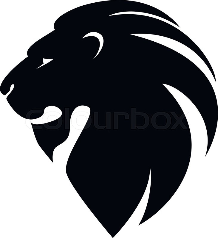 lion head in profile template logo for your design stock vector