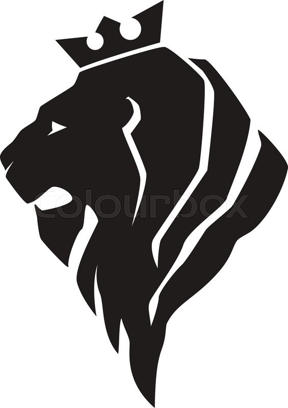 Lion Head In Profile Template Logo For Your Design