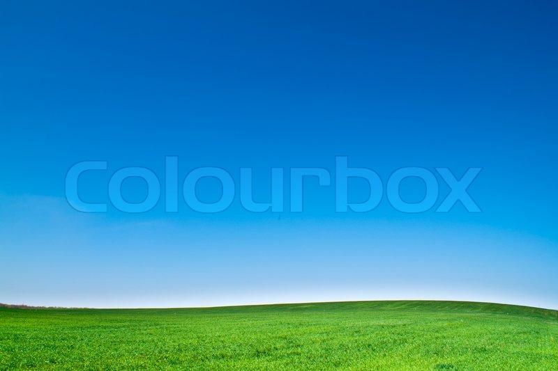 Beautiful landscape, clean blue sky, stock photo