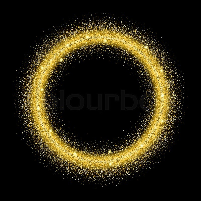 gold glitter background gold sparkle circle template for your