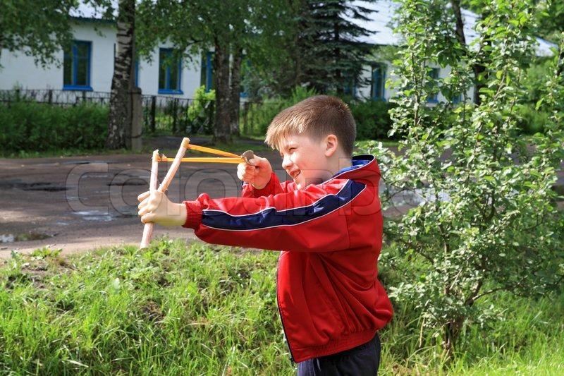 Image result for Little Boy with a Slingshot