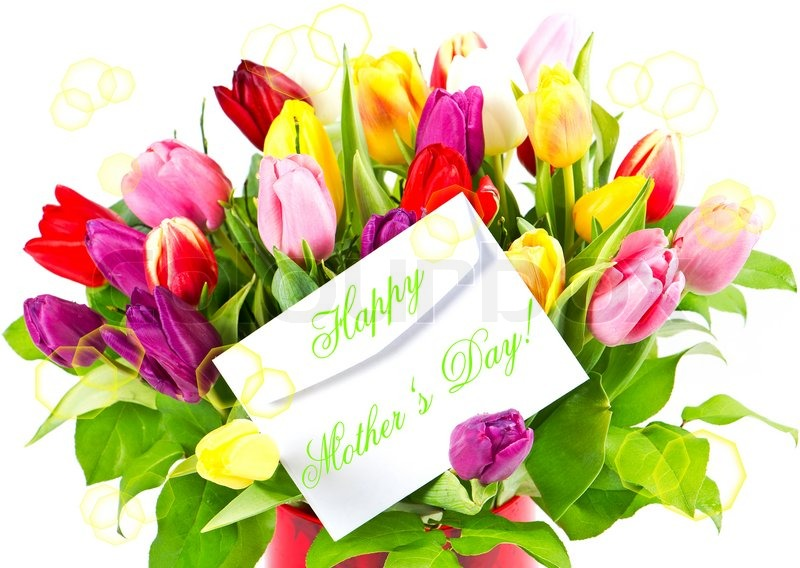 Mothers Day Tulip Bouquet >> Mothers Day Colorful Bouquet Of Fresh Stock Image Colourbox
