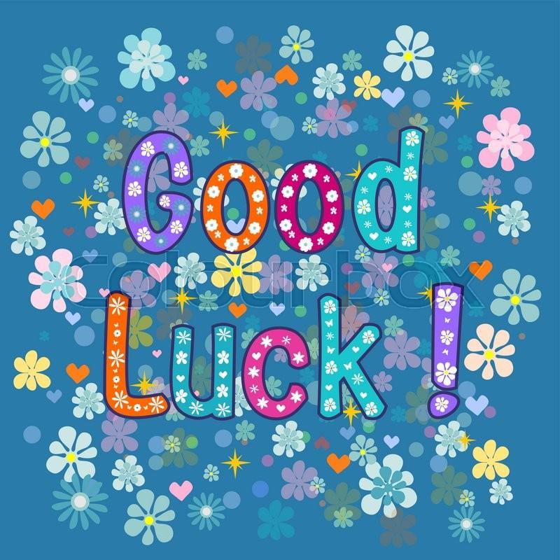 Good luck greeting card vector stock illustration stock vector good luck greeting card vector stock illustration vector m4hsunfo