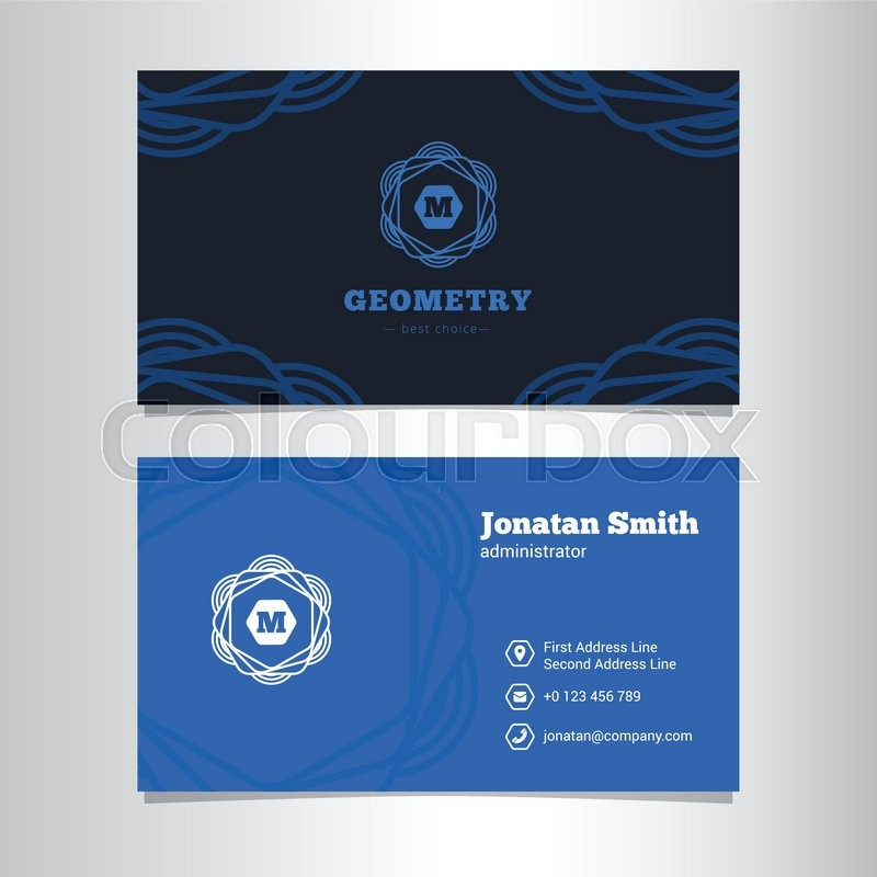Vector modern elegant business card template with monogram logo vector modern elegant business card template with monogram logo stock vector colourbox cheaphphosting Image collections