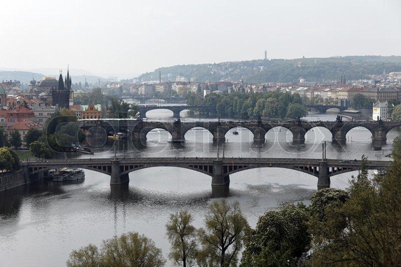 Stock foto af 'broer over vltava-floden i prag , tjekkiet'
