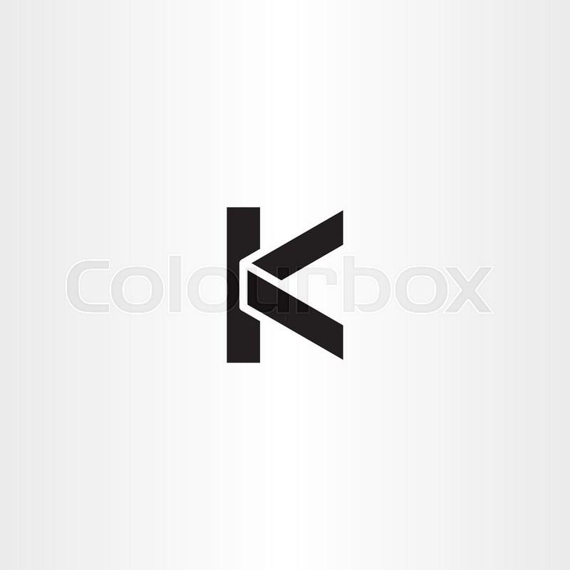 Black Logotype K Letter K Logo Icon Stock Vector Colourbox