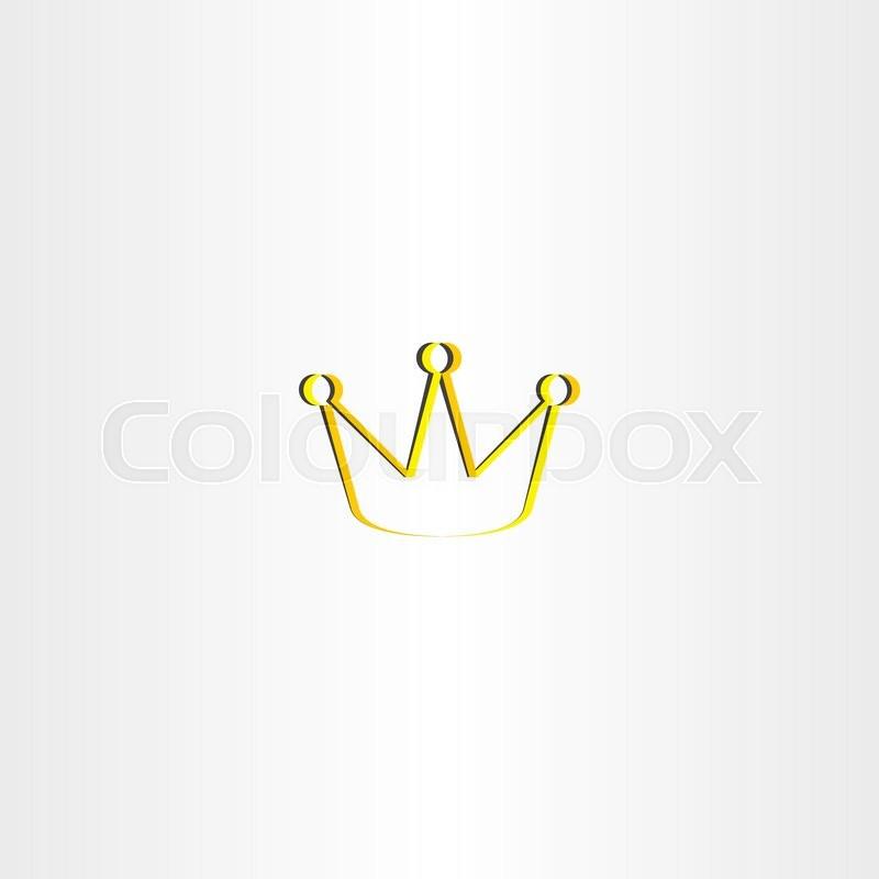 golden king crown vector logo design stock vector